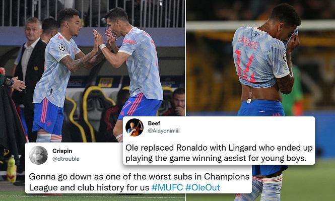 CĐV MU phản ứng giận dữ với quyết định thay Ronaldo bằng Lingard