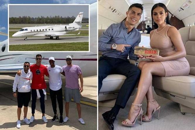 Bên trong chiếc máy bay riêng của Ronaldo trị giá 20 triệu bảng