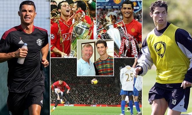 Hình ảnh đặc biệt của Ronaldo: Từ cậu bé gầy gò đến cựu binh cơ bắp