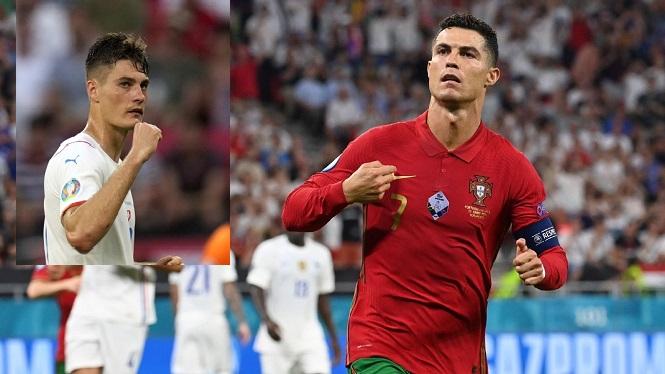 Schick và Dolberg ghi bàn tốt hơn Ronaldo ở vòng loại trực tiếp EURO