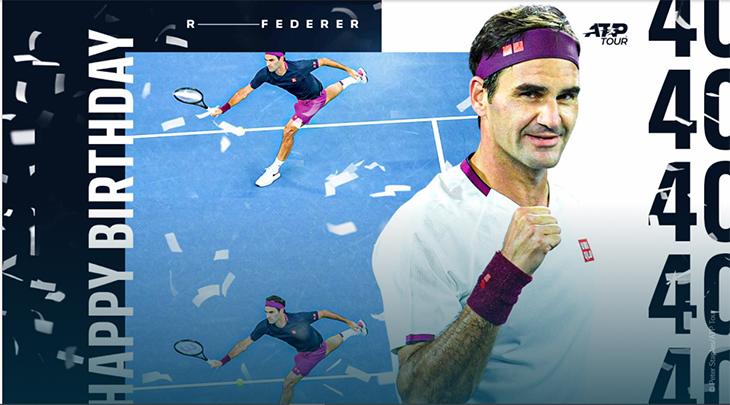 40 thống kê tennis nhân sinh nhật lần thứ 40 của Roger Federer