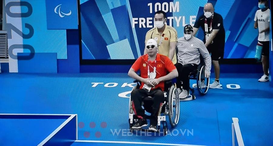 """""""Kình ngư"""" Võ Thanh Tùng hụt hơi, lỡ cơ hội vào chung kết 100m tự do S5 Paralympic Tokyo"""